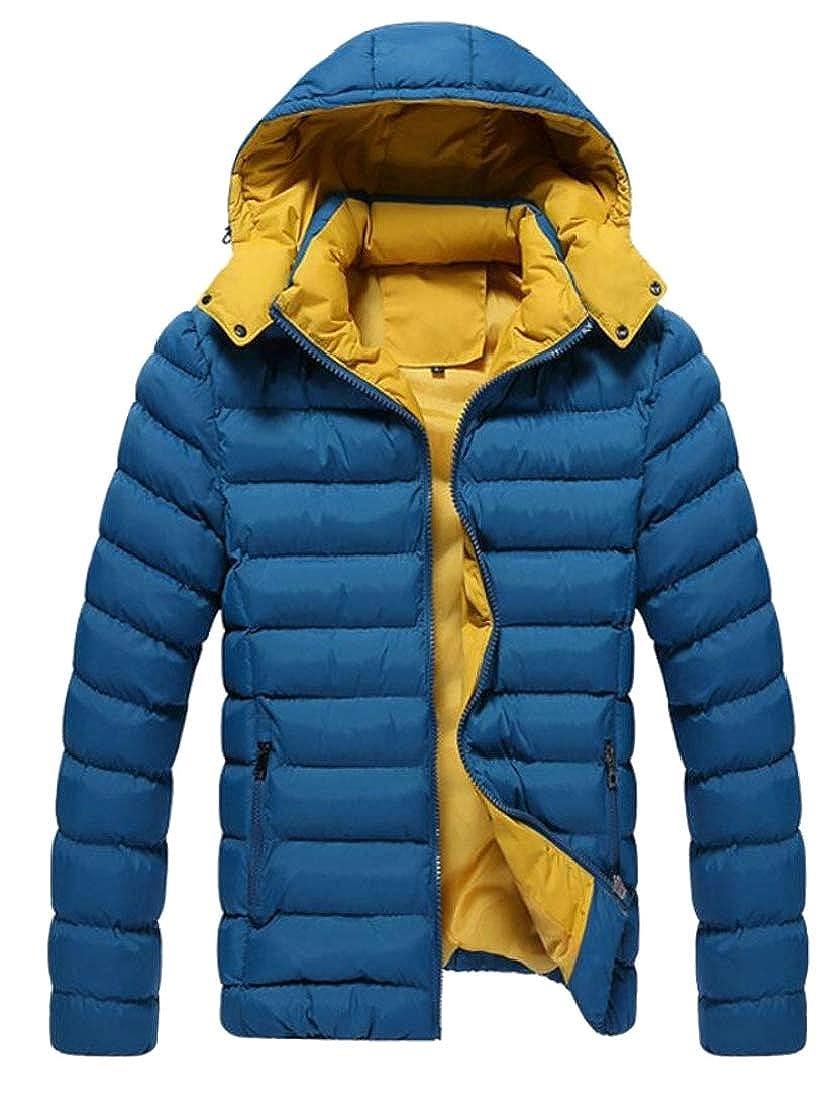 Generic Mens Winter Warm Packable Lightweight Puffer Down Coat Jacket