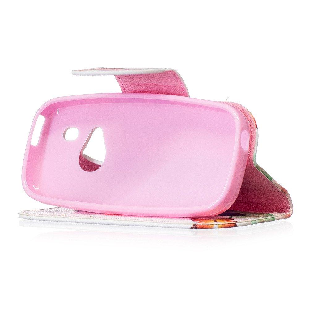 JARNING Nokia 3310 2017 Custodia Cover PU Pelle Pattern Wallet Protettiva Flip Case Portafoglio with Funzione Stand Magnetica Chiusura Smartphone Albero colorato