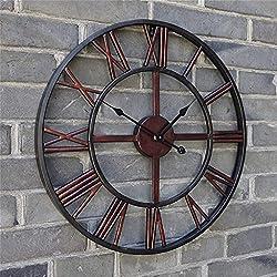 GuoEY WALL CLOCK 20 Inch European Clocks Living Room Wall Clock Modern Art Creative Clock Simple Personality Retro Family Bar Decoration (50 Cm)