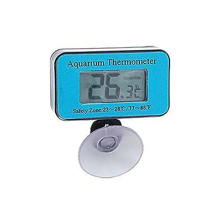 Jardin Azul Sumergible LCD Digital Acuario termómetro Impermeable
