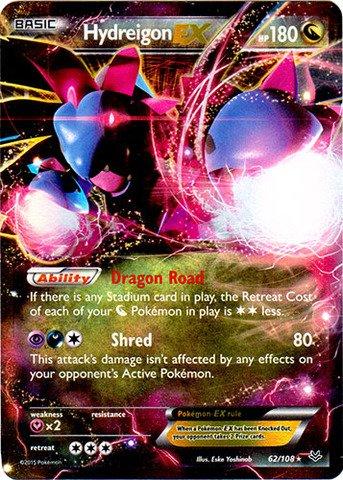 Pokemon - Hydreigon-EX (62/108) - XY Roaring Skies - Holo Ex Single