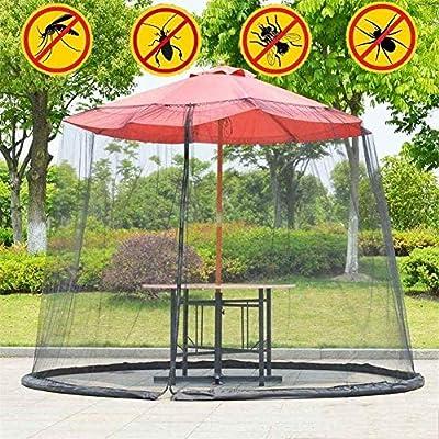 ZHAS Parasoles de jardín Jardín al Aire Libre Cubierta de Mosquitos Paraguas de Patio Red de Insectos Cubierta de Paraguas de Patio Red de Mosquitos Plegable Ayuda a Proteger contra los Mosquitos: