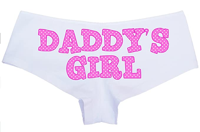72901f56d Image Unavailable. Image not available for. Colour  Knaughty Knickers - Cute  Pink Polka Dot Daddy s Girl Boy Short Panties - DDLG CGL BDSM