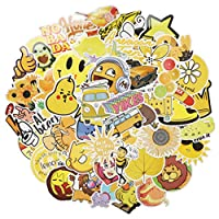 Yellow Series Stickers (70 PCS) Cute Stickers for Laptop, Hydro Flask,Water Bottle,Skateboard Phone - Aesthetic Stickers - Stickers for Teens, Adults, Kids - Sticker Pack - Vinly Waterproof
