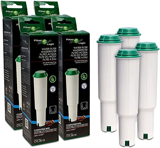 4x FilterLogic CFL-801B - Cartucho de filtro reemplaza JURA Claris ...