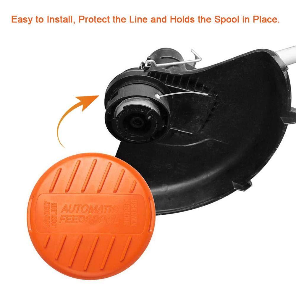 6PCS Spulenabdeckung zum Schutz der Leinen und h/ält die Spulen in Position Esplic Ersatzspulenkappe und Feder