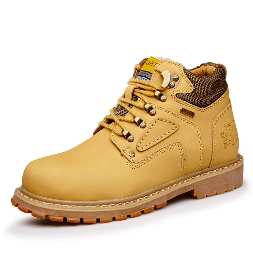ZHShiny Bottes de Travail Travail Travail pour Hommes Chaussures de sécurité légères résistantes à l'eau Construction pour randonnée Bottes de Neige 40 EU|Jaune 2d4b6d