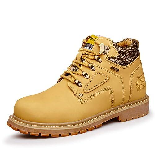 Botas de Trabajo para Hombres Zapatos de Seguridad Ligeros Resistentes al Agua Construcción para Caminar Botas