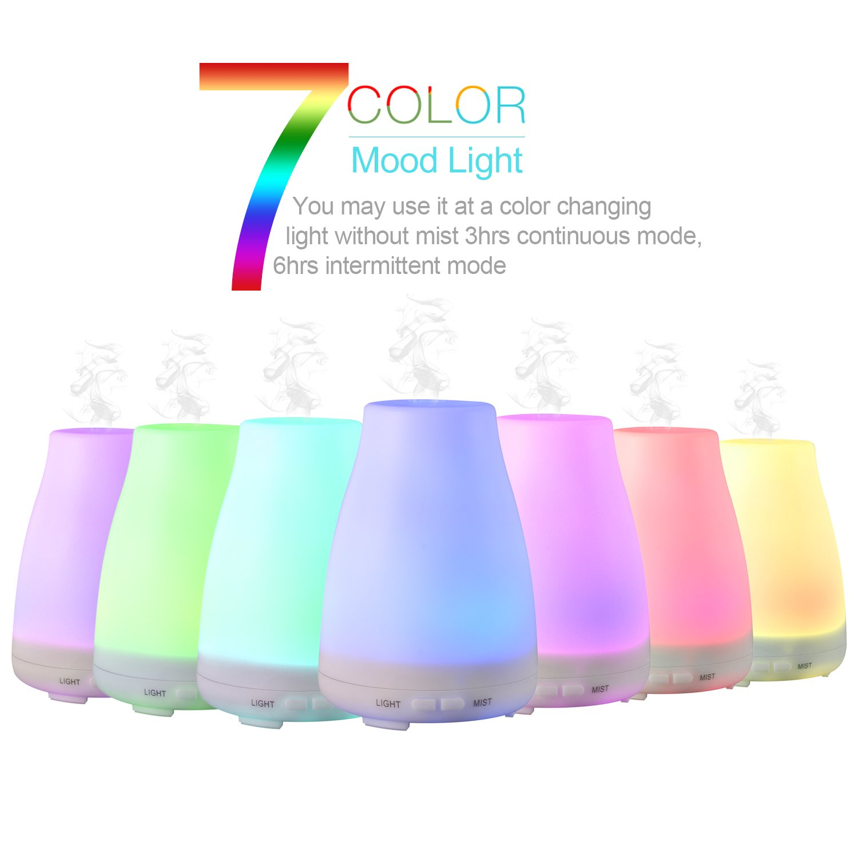 LESHP ml Humificador Difusor de Aroma Esencias Aromatizador led multicolor apagado automático