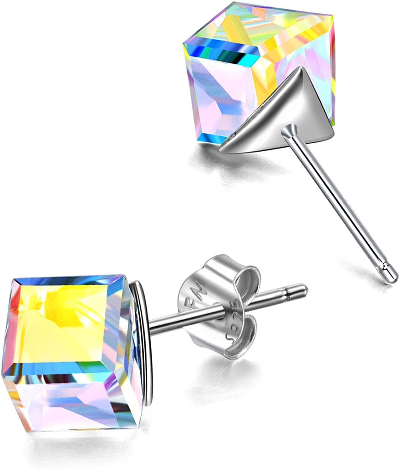 Small Square Stud EarringsMother/'s Day Gift Square Stud Earrings Geometric Stud Earrings Square Stud Earrings Geometric Earrings
