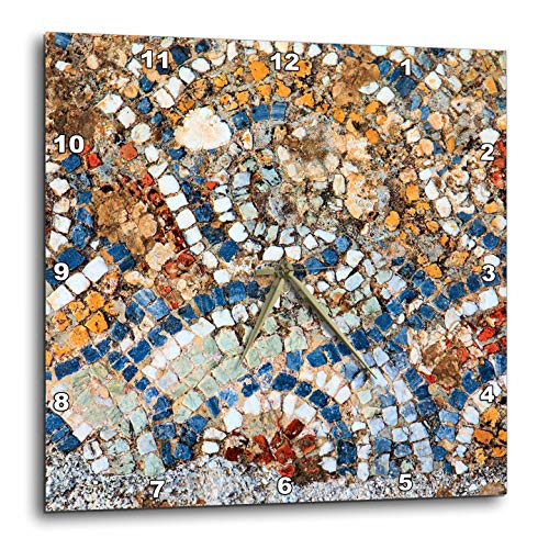 3dRose Danita Delimont - Abstracts - Turkey, Selcuk, Ancient City Ephesus. Mosaic Floor. - 15x15 Wall Clock (DPP_312852_3)