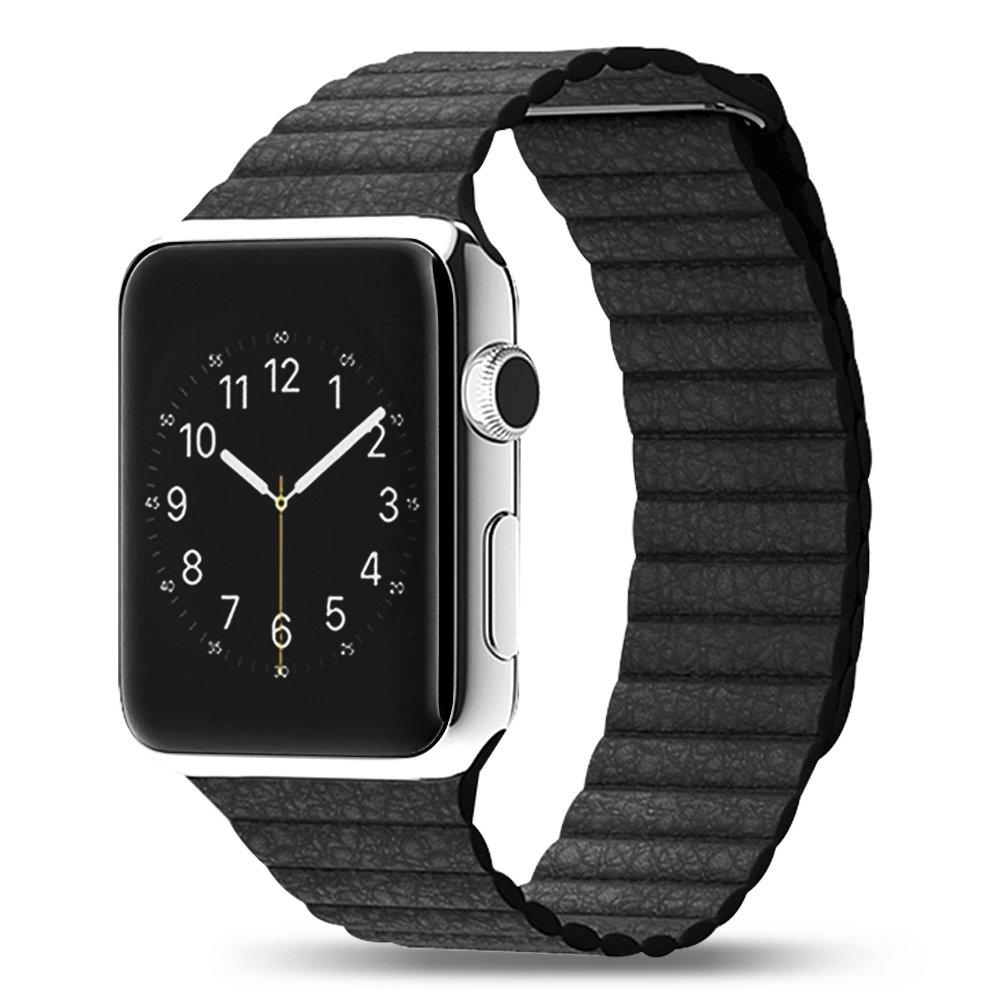 Apple watch black leather