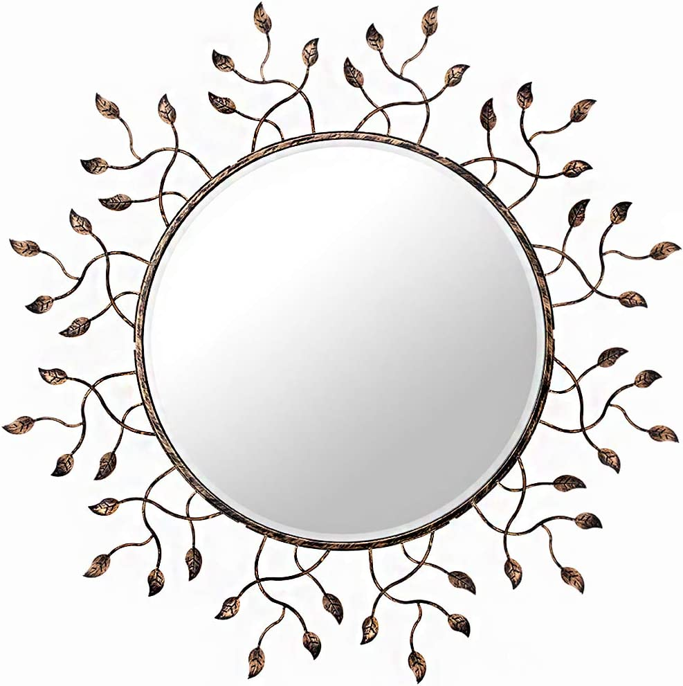 Chende Round Wall Decorative Mirror for Living Room, 39