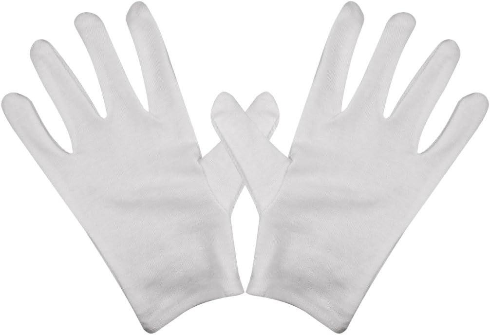 Veroda General Purpose algodón ligero guantes blancos unidades 12 ...