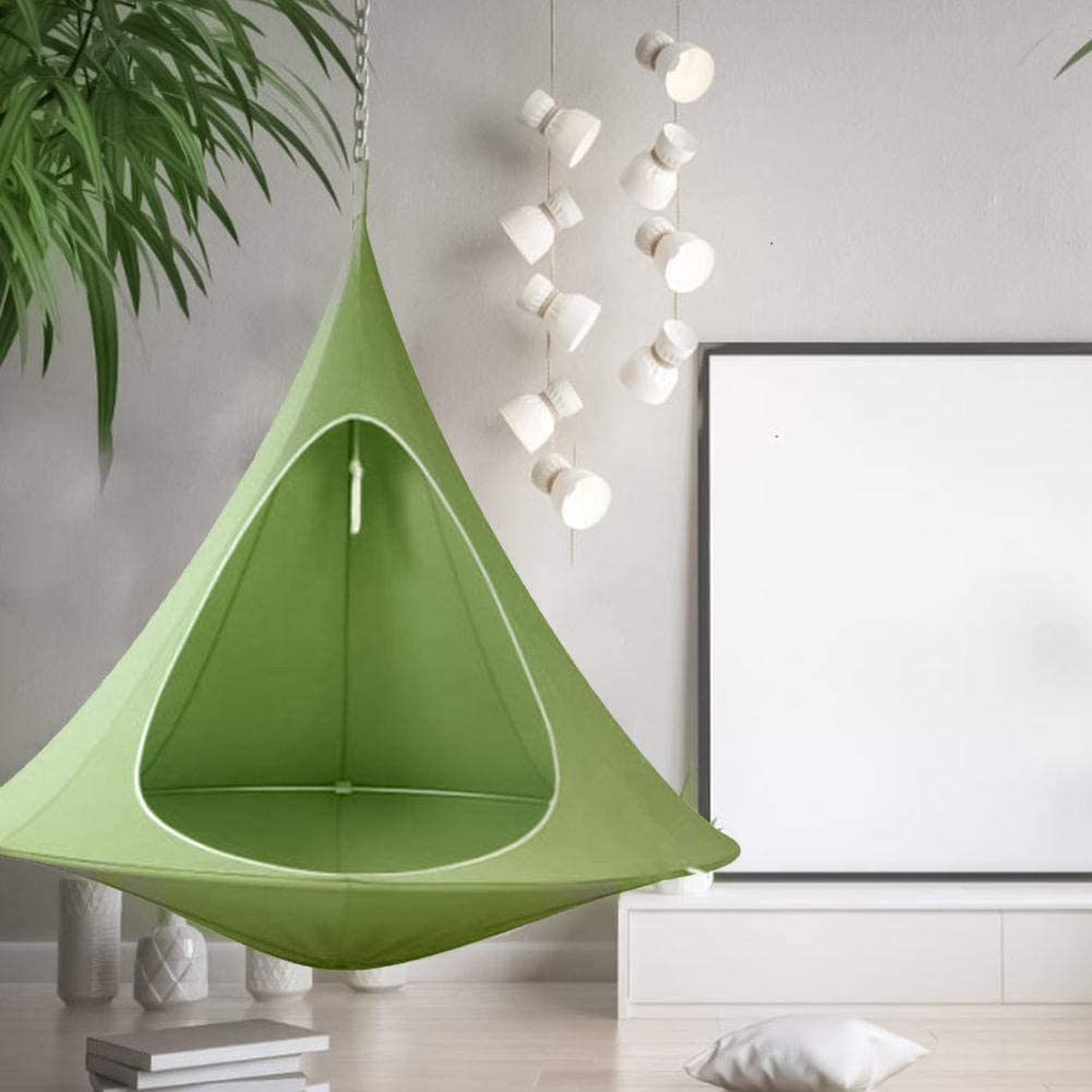 SN0wny Swing Hammock Chair Pod Shape Conical Tent Tree Hanging Chair Swing Seat Hammock Indoor Outdoor Tent Folding Waterproof Swing Chair Hammock for Children And Adults