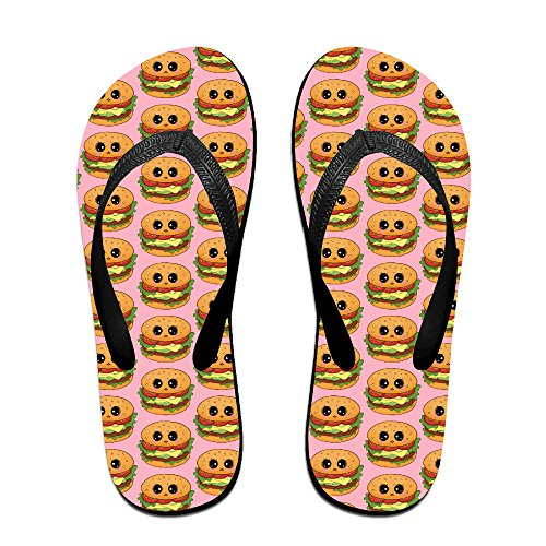 59eeb5cf9f88 cheap Happy Funny Burger Unisex Fashion Beach Slipper Indoor And Outdoor Classical  Flip-Flop Thong