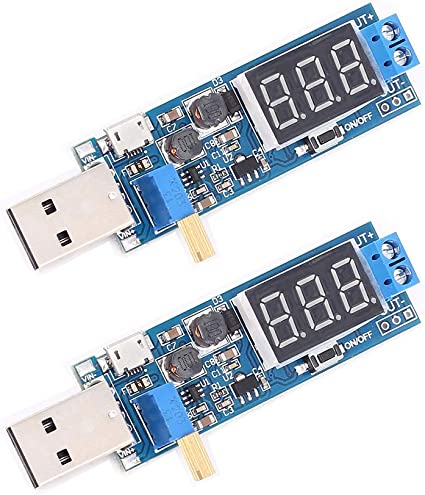 DC-DC 3.5-12V to 1.2V-24V Boost//Buck USB Step UP//Down Power Supply Module