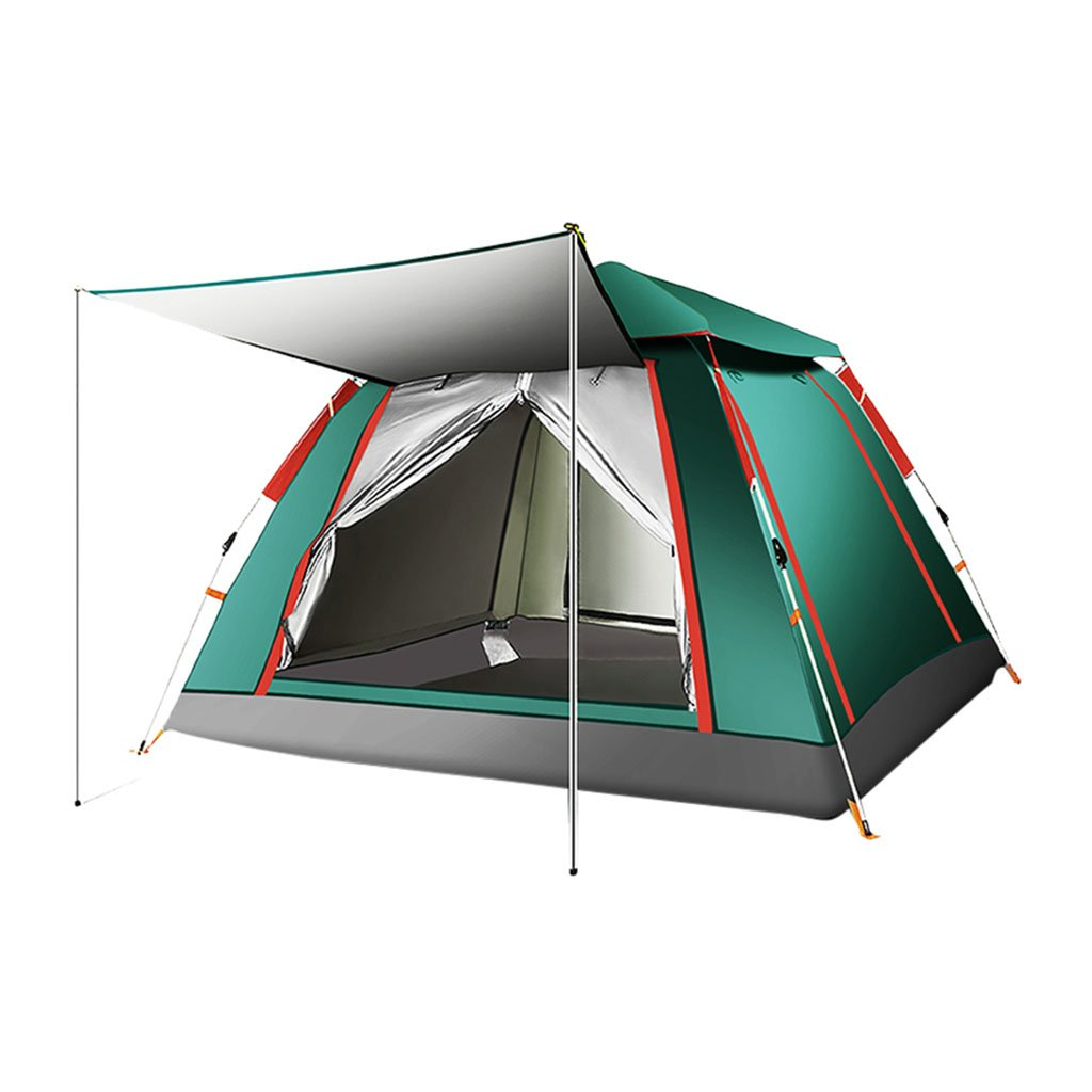 テント、自動アウトドア1-4人Thicken Rainproof Field Camping ( 色 : 4 )   B07CNMW3WC