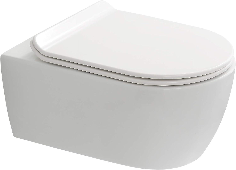 SANEO - Pack de WC suspendido autoportante (bastidor, inodoro, inodoro, placa 3/6 L): Amazon.es: Bricolaje y herramientas