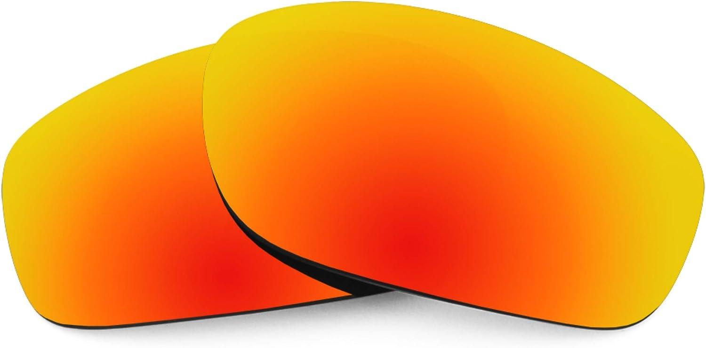 Revant Verres de Rechange pour Oakley Taper - Compatibles avec les Lunettes de Soleil Oakley Taper Rouge Feu Mirrorshield - Polarisés Elite