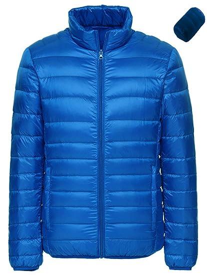 10088727ca7 Sawadikaa Men's Winter Packable Ultra Light Pillow Down Puffer Jacket Coat  Outdoor Quilted Lightweight Down Parka