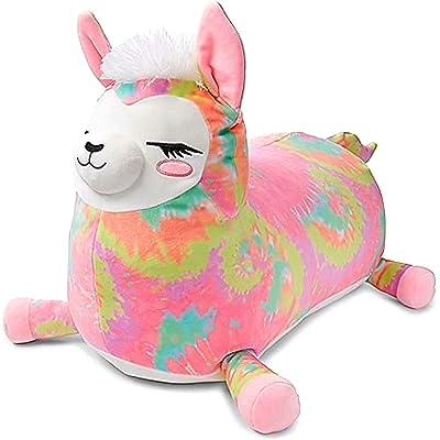 "Justice Girls Squishmallows 16"" Josie The Pink Llama Jumbo Squishmallow Stuffed Animal: Kitchen & Dining"