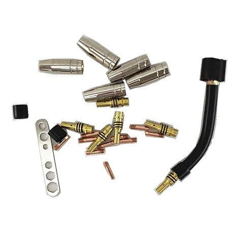 24 piezas 15AK Linterna/Pistola consumibles, boquilla de gas/puntas/soporte puntas