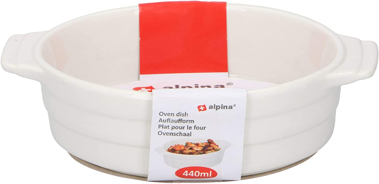 Alpina Ceramic 440ml Oval Oven to Table Baking Tapas Serving Dish Single