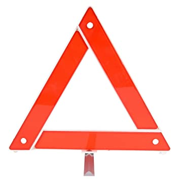 Red Reflective Warning Triangle Emergency Breakdown Safety Hazard Travel Kit uk