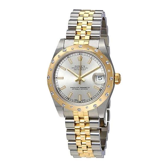 Rolex 178343SSJ- Reloj de pulsera para mujer, acero inoxidable y oro amarillo de 18