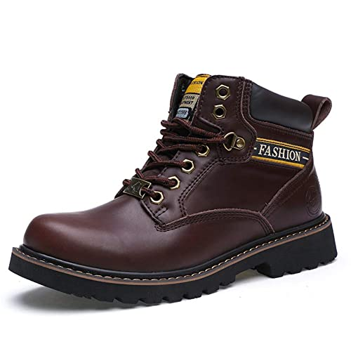 Botas de Cuero Hombres Walking Impermeable Oxfords Zapato: Amazon.es: Zapatos y complementos