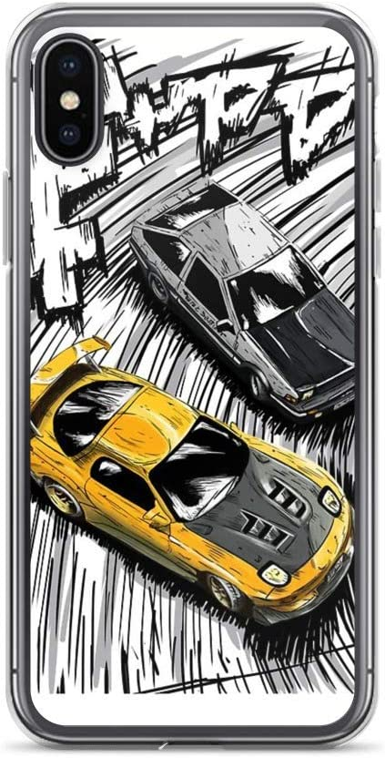 miguella Initial D Style Artwork, RX7 vs AE86 Case Cover Compatible for iPhone (7 Plus/8 Plus)