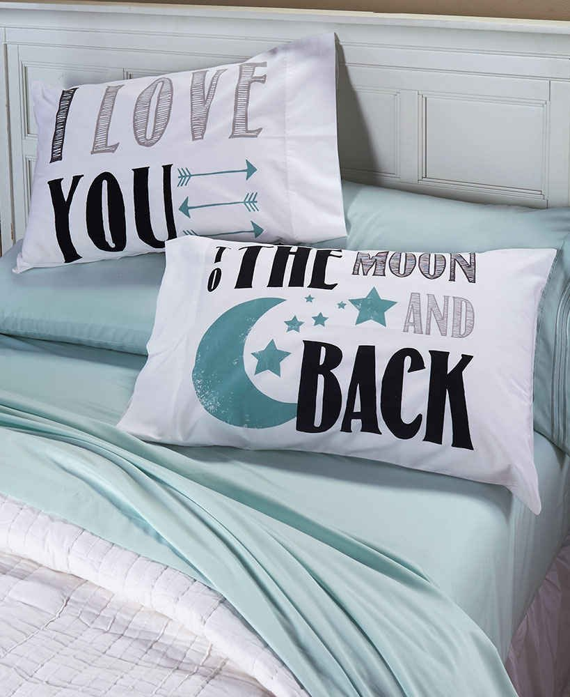 I Love You To The Moon And Back Matching Set Bedroom Pillowcases Romantic Wedding Gift Couples Anniversary Engagement Kids Children Friends Birthdays