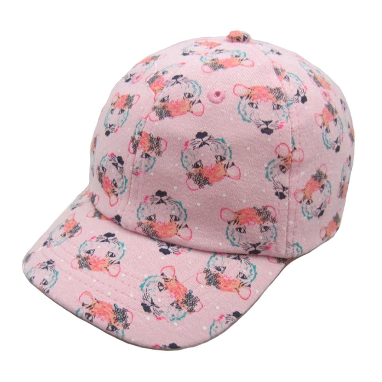 Cotton Baseball Cap Kids Girls Boys Spring Autumn Tiger Printing Adjustable Peak Caps