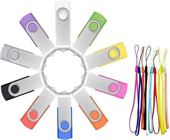 FEBNISCTE 10 Pack 16GB Rabbit USB 2.0 Stick Pendrives-2 Color Assorted