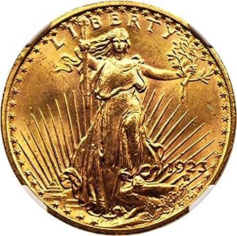 1923 P $20 Saint Gaudens Gold Twenty Dollar MS64 NGCCAC