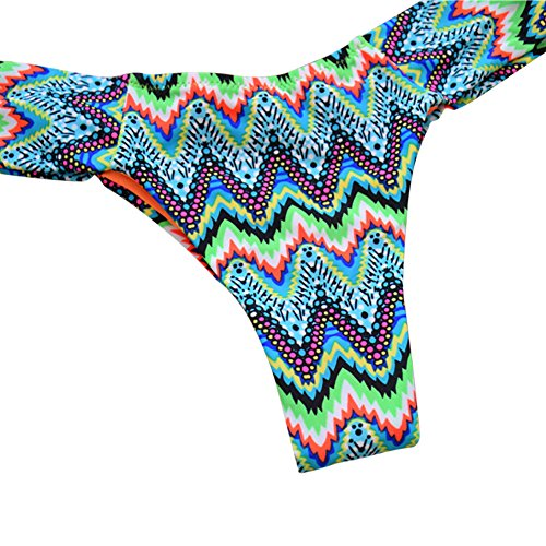FlightBird Bikini de ganchillo de las mujeres fija el traje de ba?o atractivo del halter Green