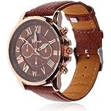 腕時計 ウォッチ ユニセックス メンズ レディース かっこいい かわいい スーツ に 似合う (ゴールド)