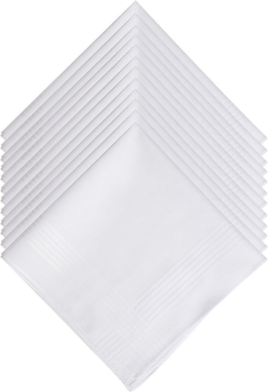 Pañuelo 100% Algodón para Hombre Cuadrado Blanco