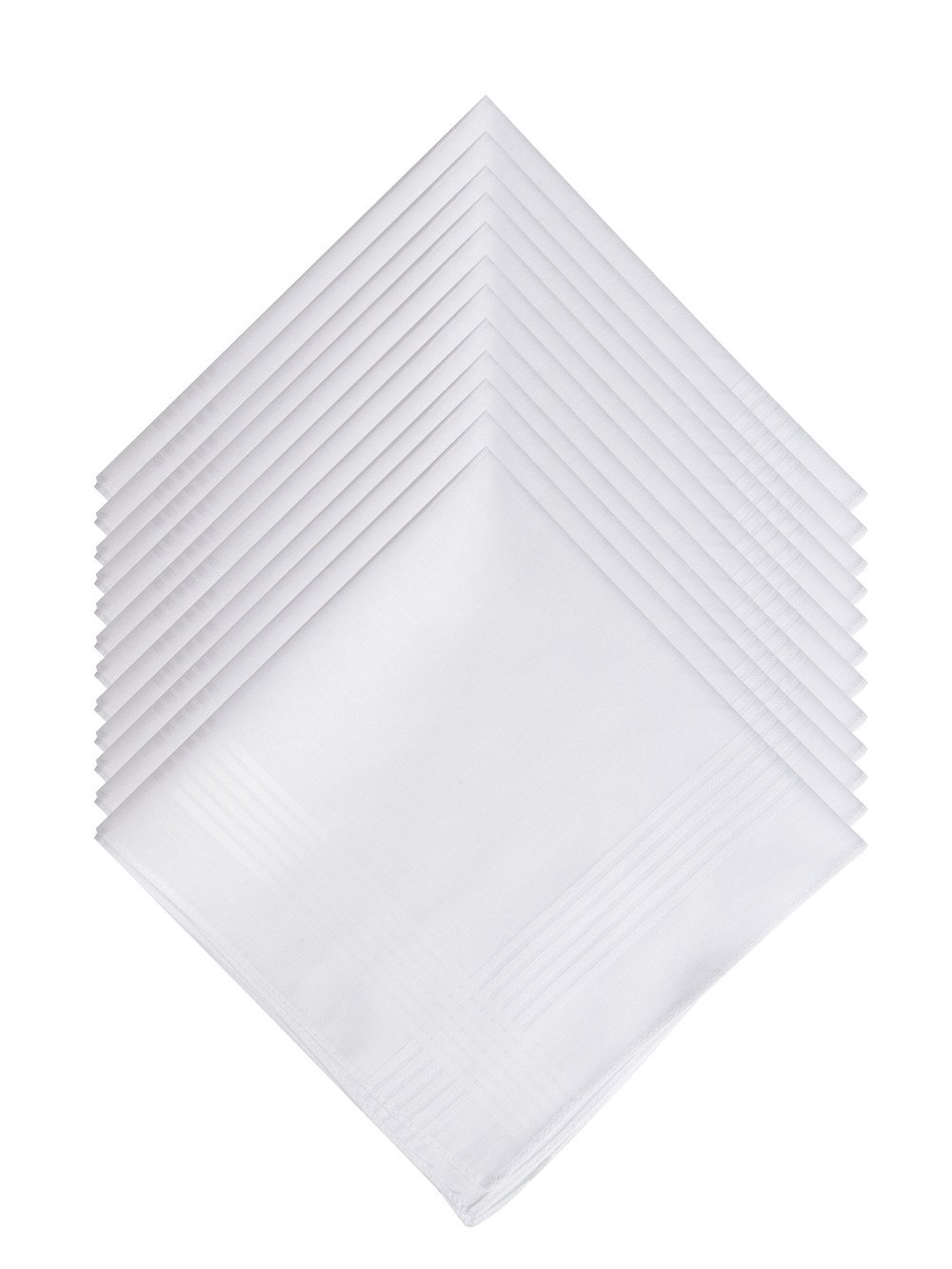 100% Cotton Men's Handkerchief White with Stich TTH021
