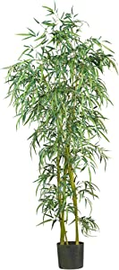Nearly Natural 5193 Fancy Style Slim Bamboo Silk Tree, 6-Feet, Green