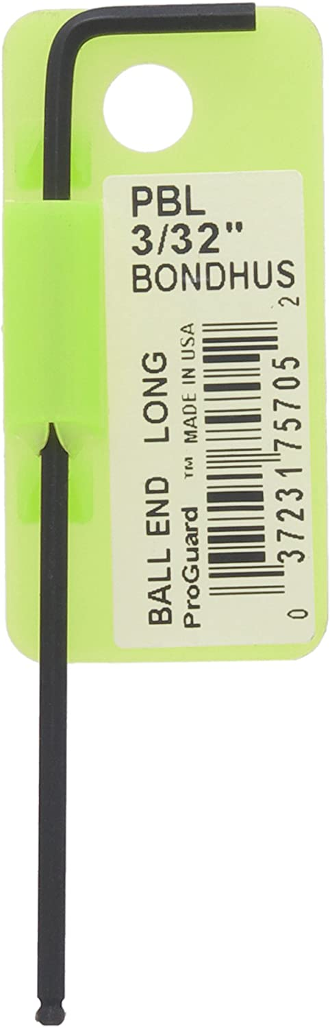 Bondhus 75705 3//32 ProHold Ball End L-Wrench