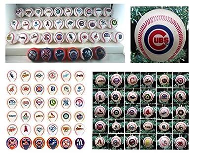 "MLB Major League Baseball Complete League Set of 30 Decorative Team Balls Featuring 2"" Team Baseballs of the Arizona Diamondbacks, Atlanta Braves, Baltimore Orioles, Boston Red Sox, Chicago White Sox, Chicago Cubs, Cinncinnati Reds, Cleveland Indians, Col"
