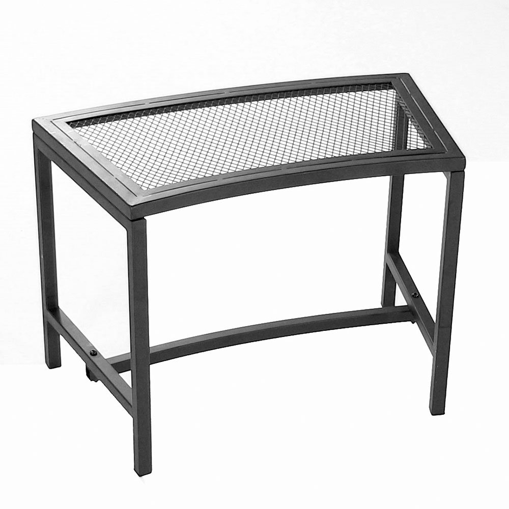 Surprising Sunnydaze Fire Pit Bench Outdoor Patio Seating Black Mesh Squirreltailoven Fun Painted Chair Ideas Images Squirreltailovenorg