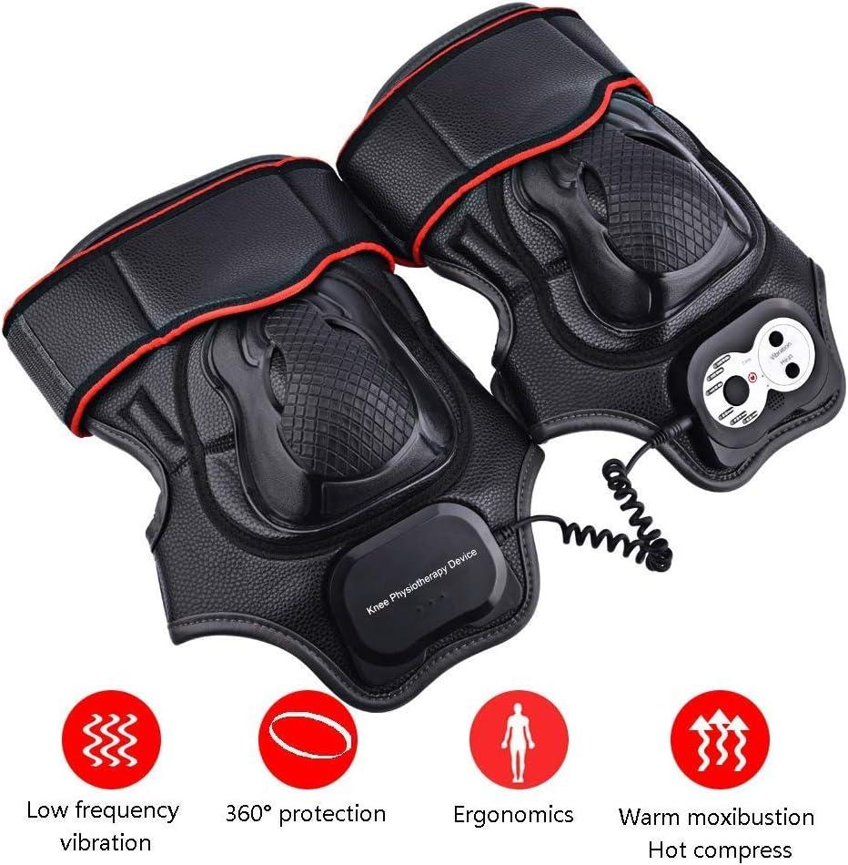 赤外線電気加熱膝関節理学療法器具ホットコンプレスマッサージ中年の男性と女性の足を温かく保つ,黒 黒