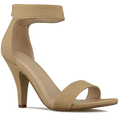 0b5ac6338bc Premier Standard - Women s Open Toe High Heel Ankle Strap Dress Sandal  Heeled-Sandals