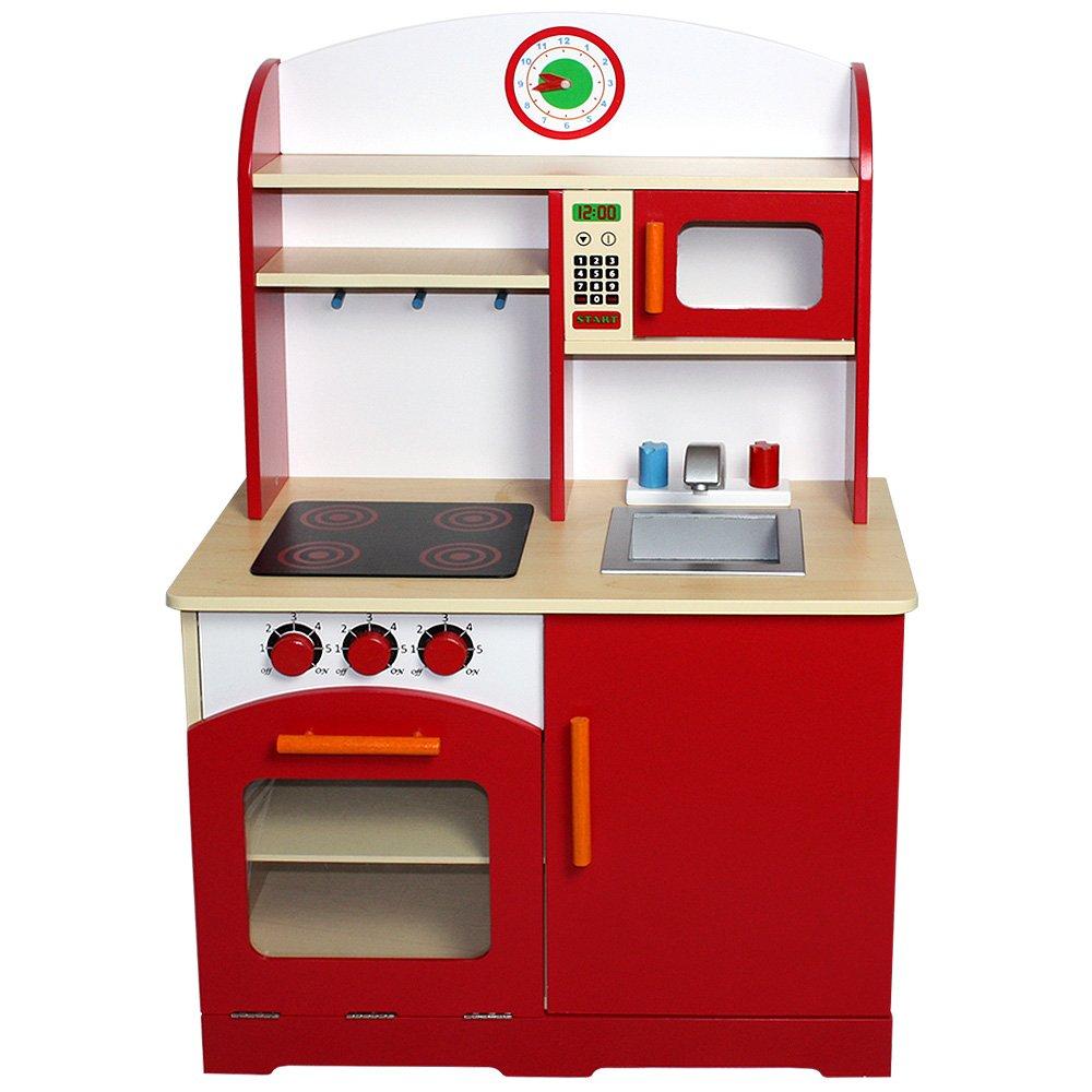 Infantastic® - Cocina de juguete de madera aprox. 61 x 33 x 93 cm: Amazon.es: Juguetes y juegos