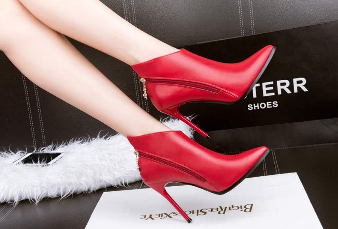 DANDANJIE Damen Damen Damen Stiefeletten Stiletto Heel Toe Stiefelies Sexy High Heel Stiefel für 2018 Herbst Winter db1a25