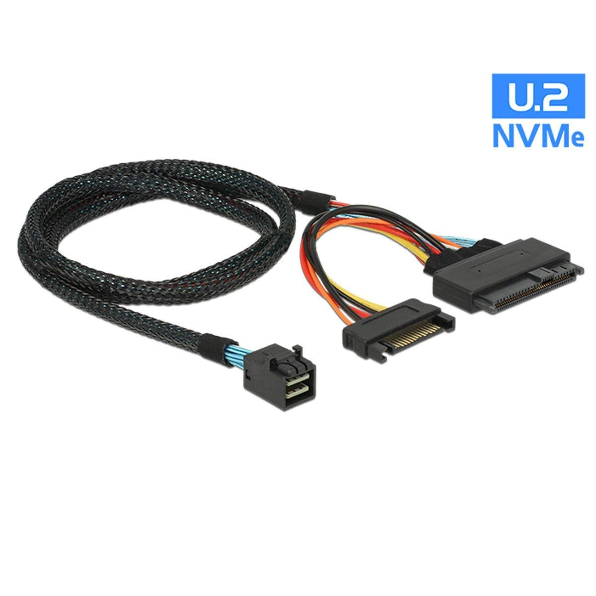 Cable Interno 12G Mini SAS HD to U.2 / SFF-8643 0.5m 15Pin