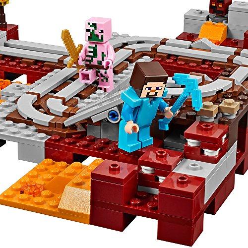 61ipri0R07L - LEGO Minecraft The Nether Railway 21130